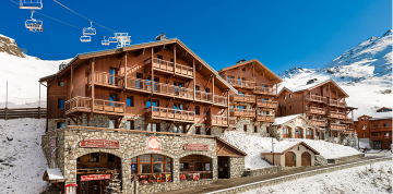 Chalets in Val Thorens on the slopes